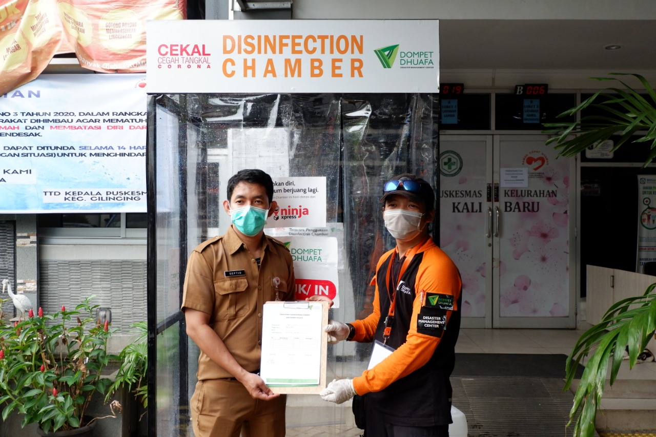 Kolaborasi-Dompet-Dhuafa-dan-Ninja-Xpress,-Pasang-Disinfection-Chamber-Di-10-Titik